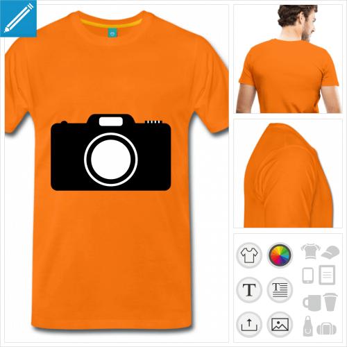 T-shirt picto d'appareil photo personnalisable.