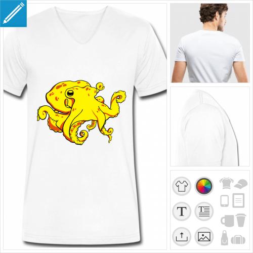 t-shirt poulpe à créer en ligne