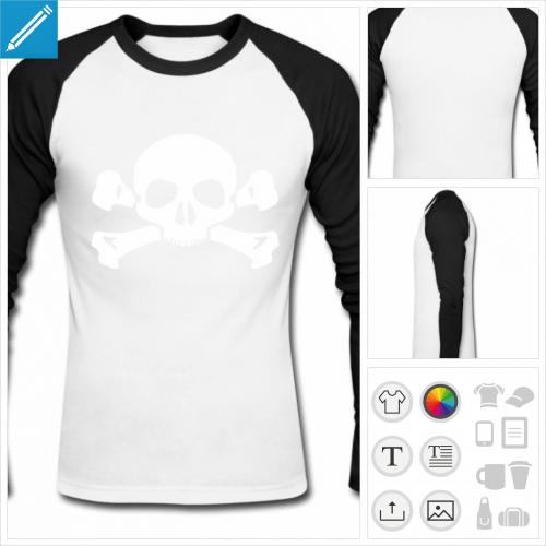 t-shirt tête de mort à imprimer en ligne