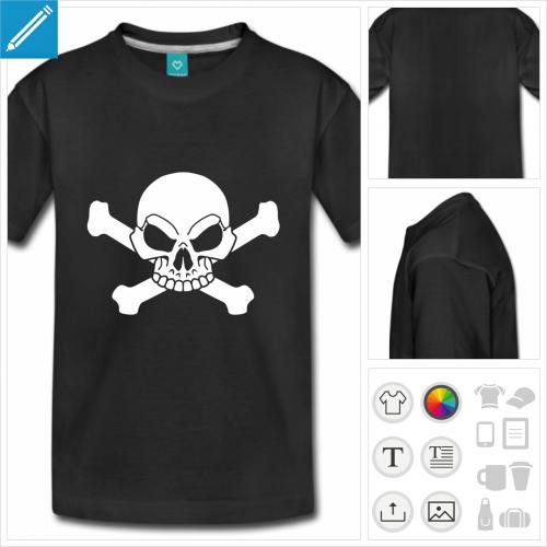 t-shirt ado tête de mort à créer soi-même
