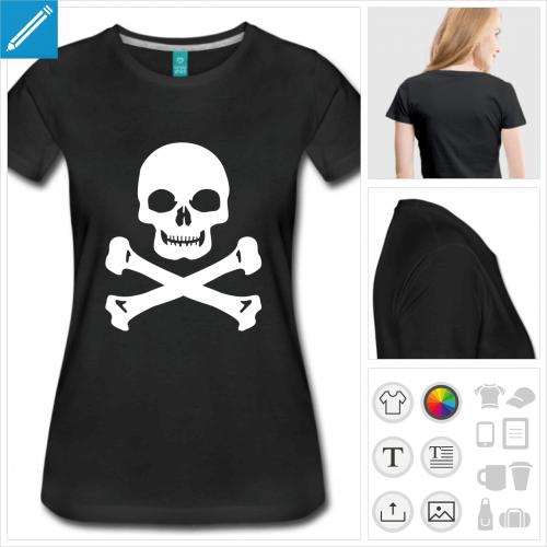 t-shirt basique pirate à créer soi-même