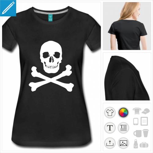t-shirt basique tête de mort à imprimer en ligne