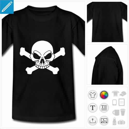 t-shirt pirate personnalisable
