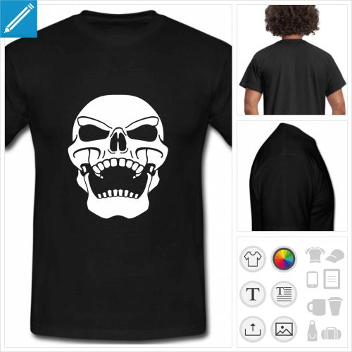 t-shirt manches courtes pirate à personnaliser et imprimer en ligne