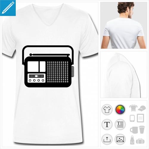 t-shirt radio personnalisable