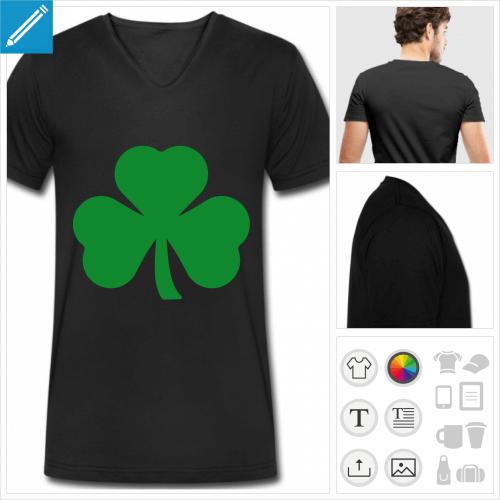 t-shirt pour homme saint patrick à créer soi-même