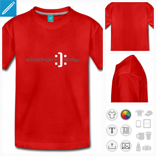 t-shirt basic science à personnaliser et imprimer en ligne