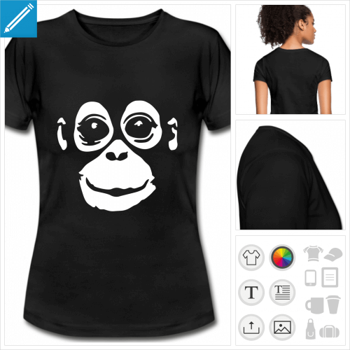 t-shirt manches courtes Orang-outan personnalisable