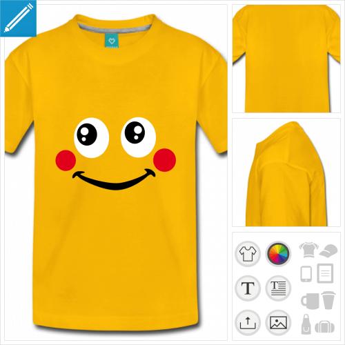 t-shirt smiley mignon à personnaliser