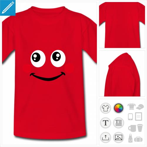 t-shirt simple sourire à personnaliser en ligne