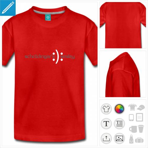 t-shirt basic schrödinger à imprimer en ligne