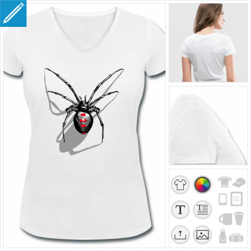 t-shirt araignée à créer soi-même