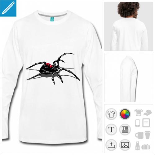 t-shirt pour homme araignée personnalisable, impression à l'unité