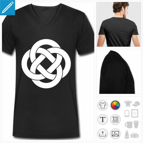 t-shirt pour homme symbole celte à personnaliser