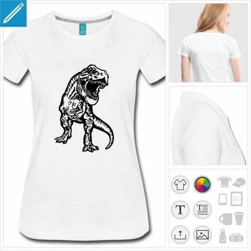 t-shirt manches courtes dinosaure à imprimer en ligne