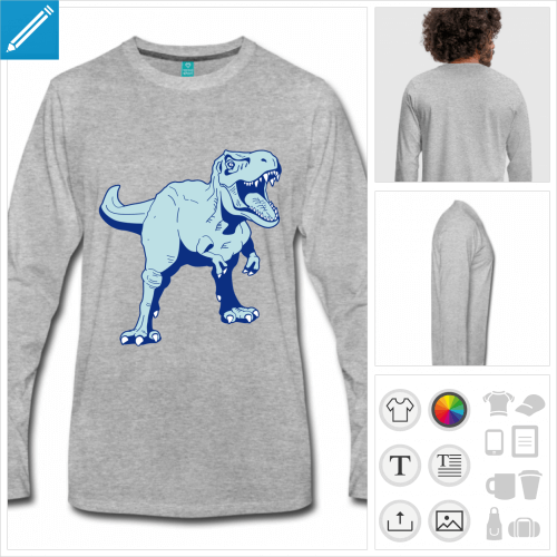 t-shirt dinosaure à personnaliser, impression unique