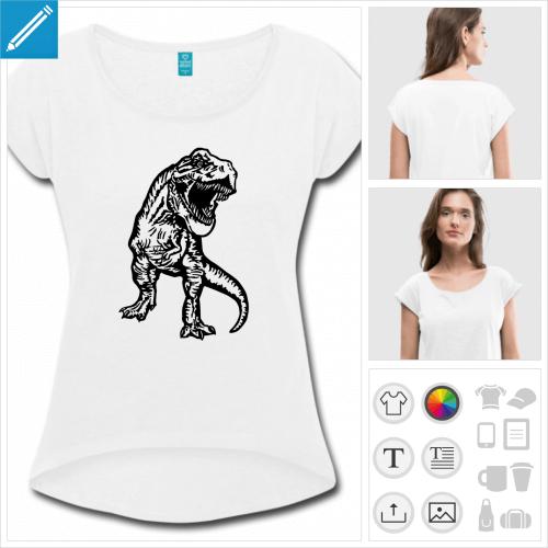t-shirt vert d'eau T-rex à créer en ligne