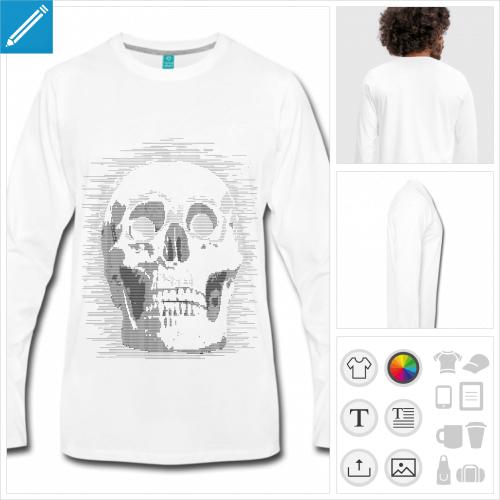 t-shirt manches longues ascii à imprimer en ligne