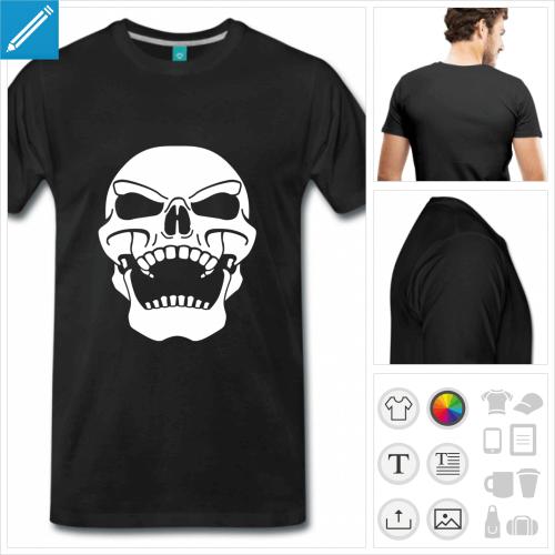 t-shirt drapeau pirate à personnaliser et imprimer en ligne