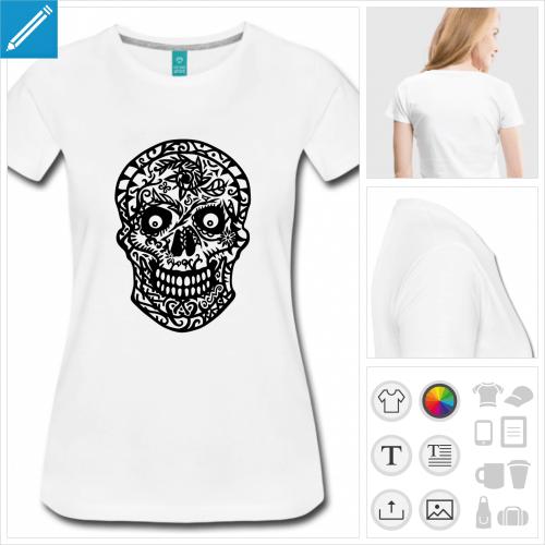 t-shirt tête de mort à personnaliser en ligne