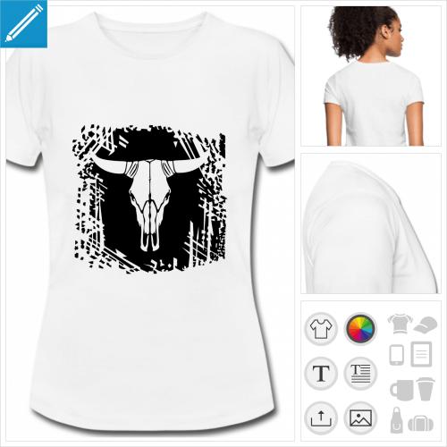 t-shirt basique western personnalisable