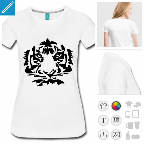 t-shirt simple tigre à personnaliser en ligne