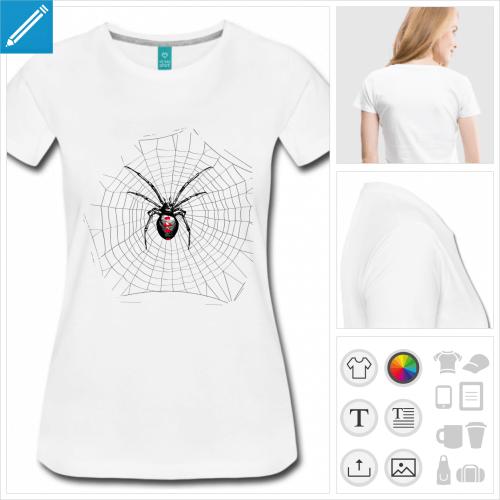 t-shirt simple araignée à créer en ligne