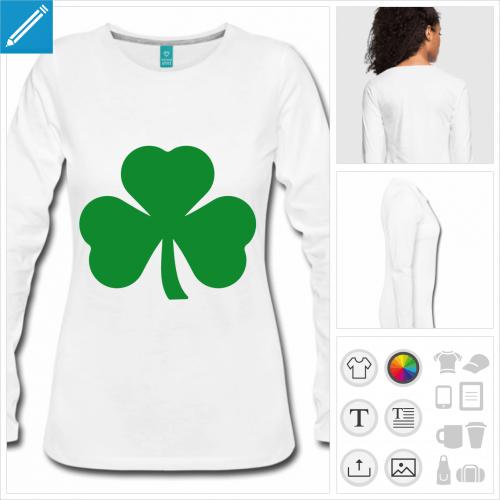 t-shirt trèfle irlandais à créer en ligne