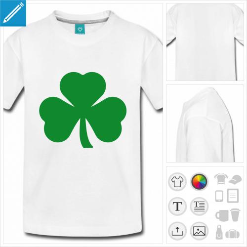 t-shirt adolescent saint patrick à personnaliser