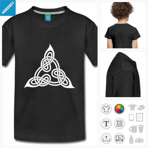 t-shirt pour enfant celtique à créer en ligne