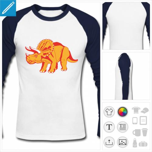 t-shirt tricératops à personnaliser