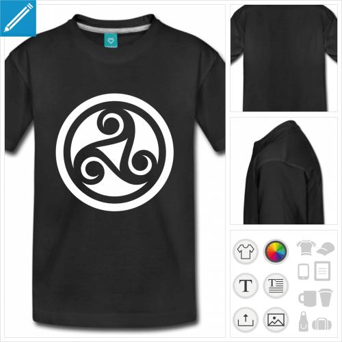 t-shirt ado celtique à créer soi-même