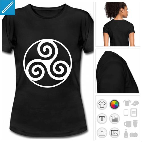 t-shirt Triskel breton à imprimer en ligne