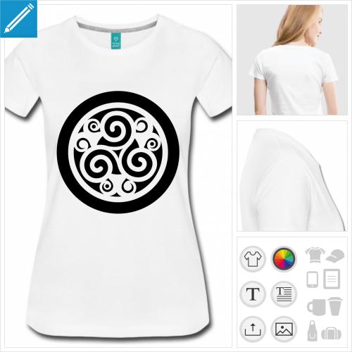 tee-shirt triskel à personnaliser et imprimer en ligne