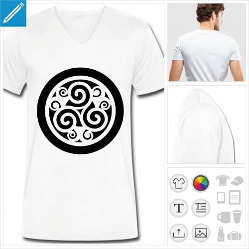 tee-shirt celtique à personnaliser, impression unique