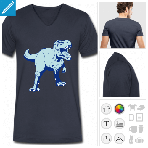 t-shirt homme tyrannosaure à imprimer en ligne