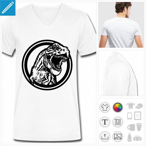 t-shirt pour homme dinosaure à personnaliser