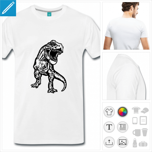 t-shirt simple T-rex à personnaliser en ligne