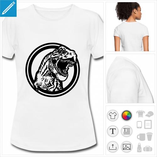 t-shirt blanc tyrannosaurus rex à créer en ligne