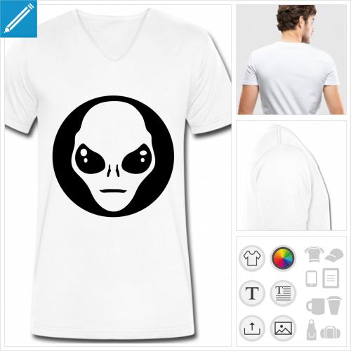 tee-shirt aliens à personnaliser et imprimer en ligne
