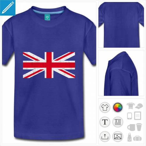 t-shirt ado union jack à personnaliser et imprimer en ligne
