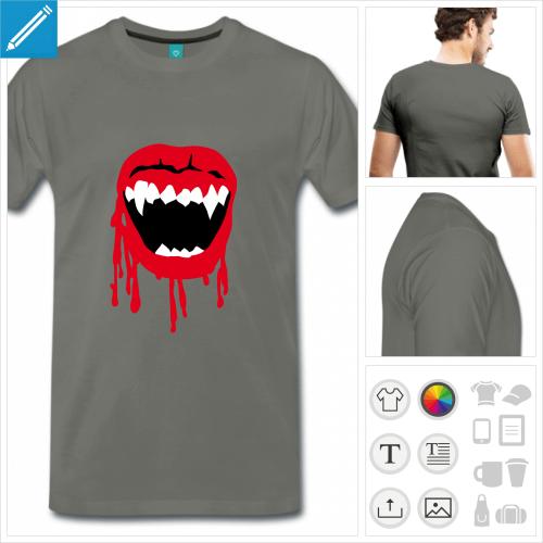 t-shirt basic vampire à personnaliser et imprimer en ligne