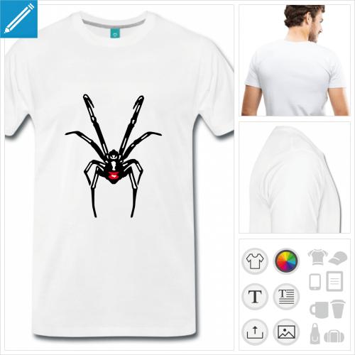 T-shirt veuve noire aux couleurs personnalisables à imprimer en ligne.