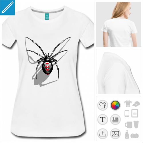 t-shirt simple araignée à personnaliser et imprimer en ligne
