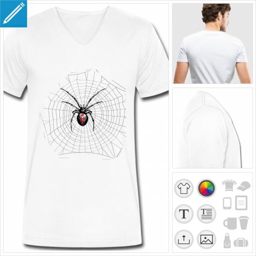 t-shirt toile d'araignée à imprimer en ligne