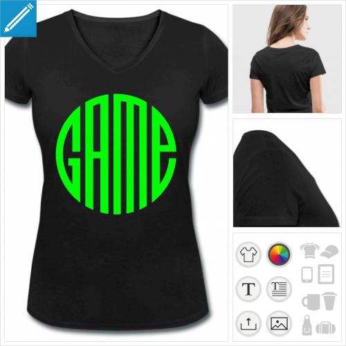t-shirt femme video games à créer soi-même