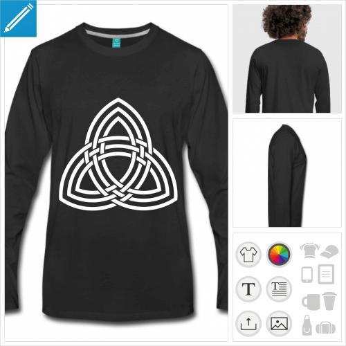 t-shirt noir celte à créer en ligne