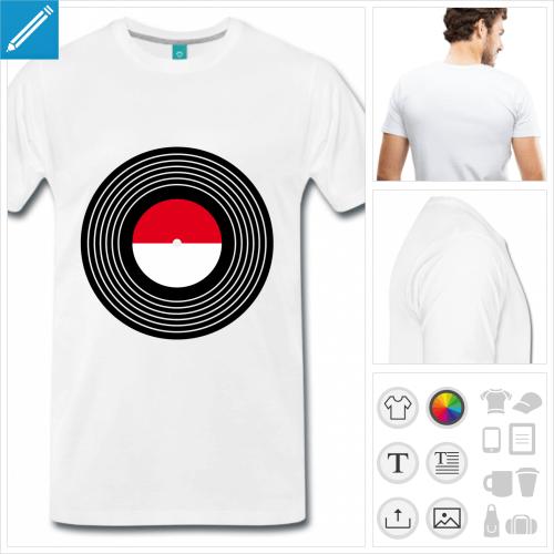 t-shirt simple musique à imprimer en ligne