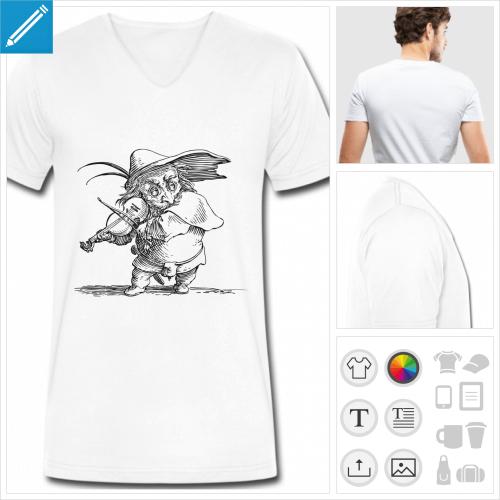 t-shirt musicien à personnaliser et imprimer en ligne