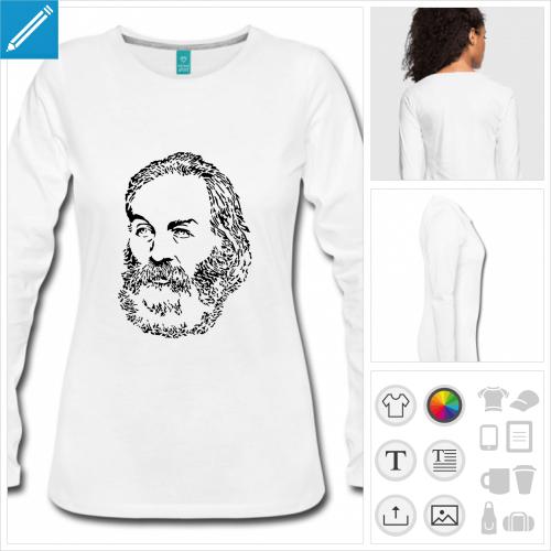 t-shirt femme écrivain à créer soi-même